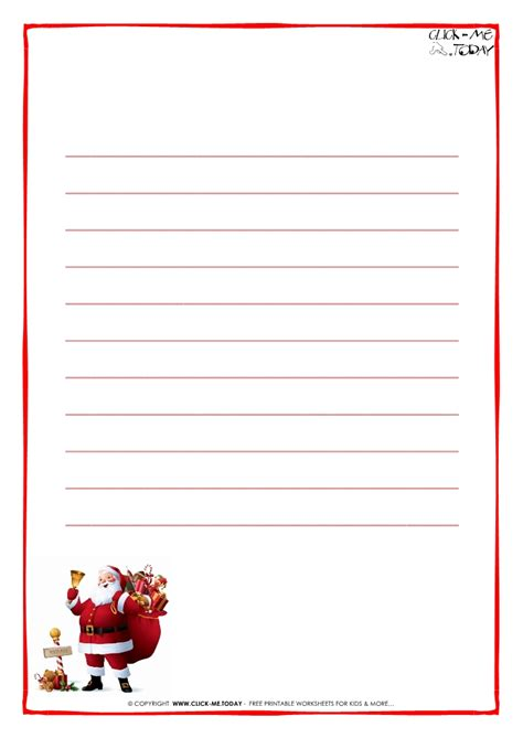 santa writing paper letter to santa claus paper template with lines santa 15