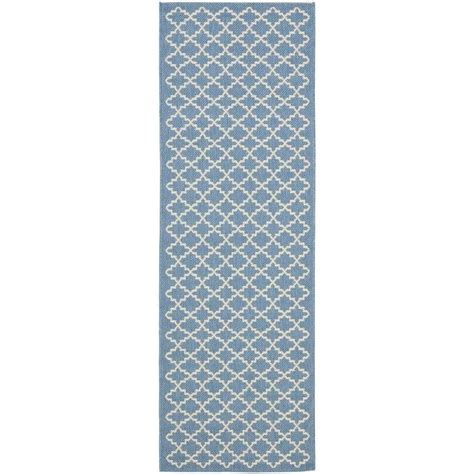 Indoor Outdoor Runner Rug Safavieh Courtyard Blue Indoor Outdoor Rug Runner 2 3 Quot X 8 Cy6919 243 28