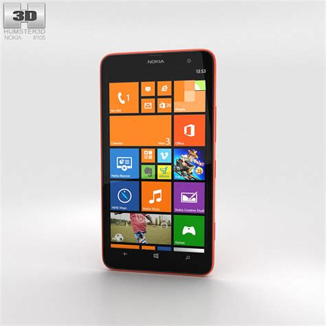 format video lumia 1320 nokia lumia 1320 red 3d model humster3d
