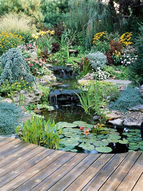 Backyard Pond Landscaping Ideas Backyard Pond Garden Ideas