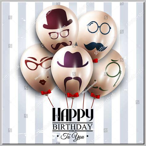 balloon birthday card template 21 birthday card templates designs psd ai free