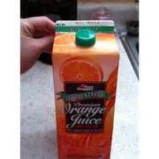 Detox Juice Price Chopper by Price Chopper Homestyle Orange Juice Some Pulp Calories