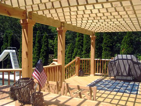 Wood Deck Design With Pergola By Suburb Of Chicago Deck Wood Deck With Pergola