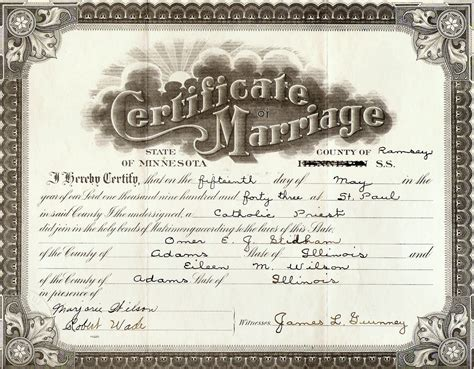 Free Marriage License Records Illinois Marriage Records Education
