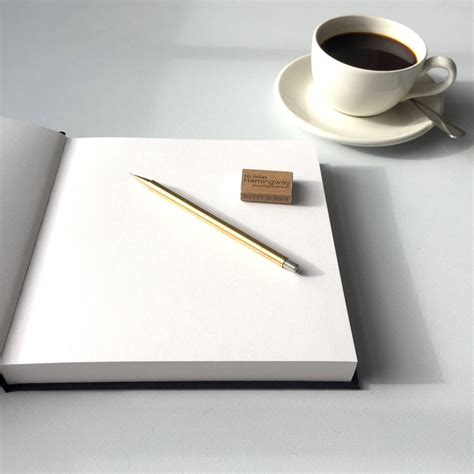 sketchbook gift handmade mechanical pencil and sketchbook gift set by
