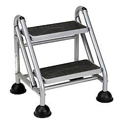 Cosco Rolling Commercial Step Stool by Cosco Rolling Commercial Step Stool 2 Step 19 710 Spread