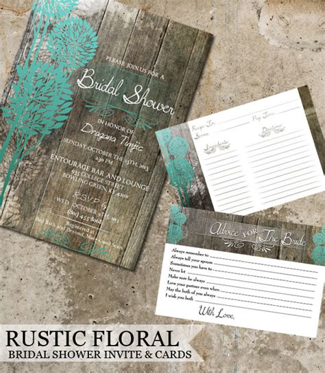 rustic bridal shower diy rustic wood bridal shower invitations advice cards recipe