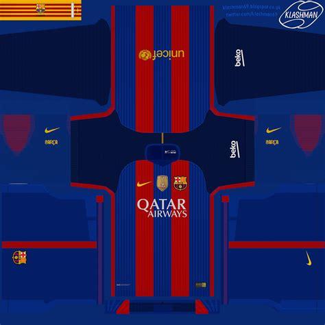 barcelona dls kit fc barcelona pes to dls fts 2016 home