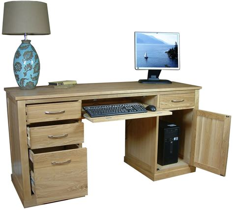 Mobel Oak Twin Pedestal Computer Desk Mobel Oak Pedestal Computer Desk