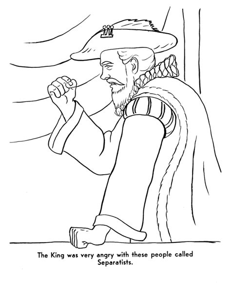 king james coloring pages pilgrims first thanksgiving coloring page king james