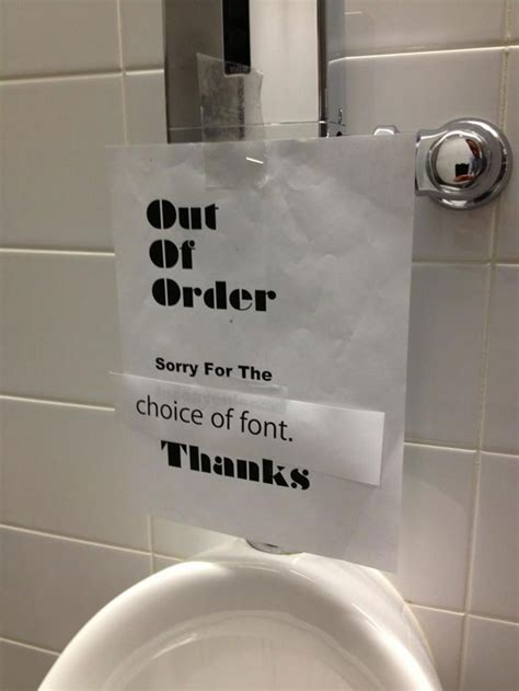 funny bathroom stories toilet out of order sign at apple global issues fr