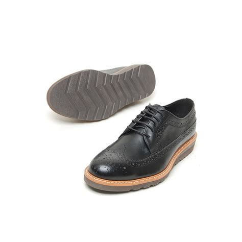 wedge oxford shoes s wing tip cow leather longwing brogues lace up wedge