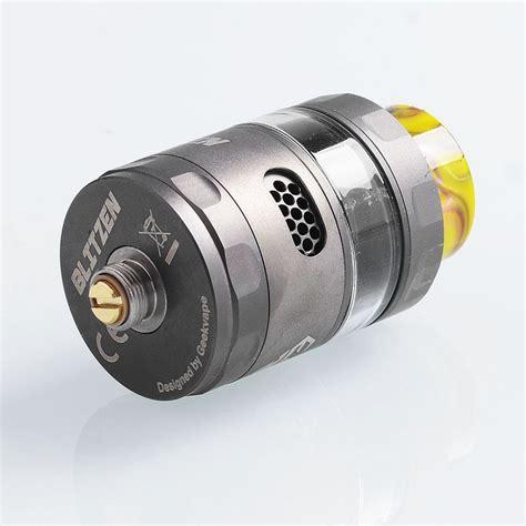 Authentic Geekvape Blitzen Rta Black Vape Vapor authentic geekvape blitzen rta gunmetal 5ml 24mm tank atomizer