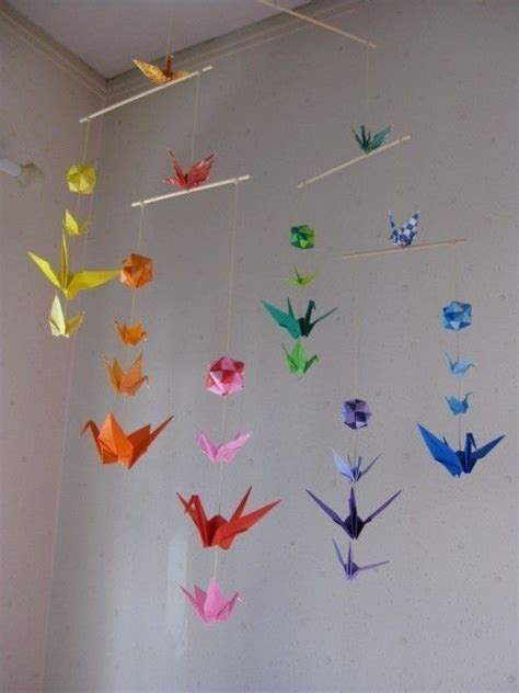 Origami Baby Mobile - origami mobile cranes and modules crane mobile