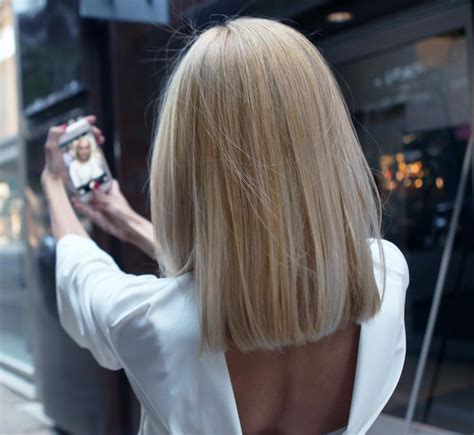 blonnde blunt cut how to grown out ombre transformed into an edgy blonde