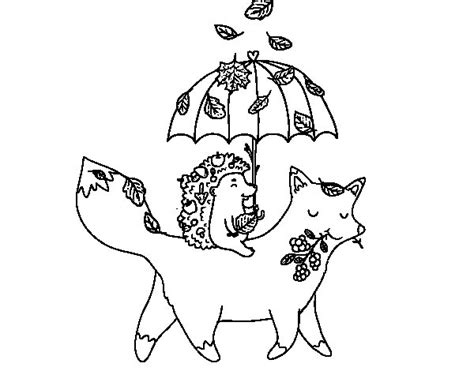 autumn animals coloring page animals and autumn coloring page coloringcrew com