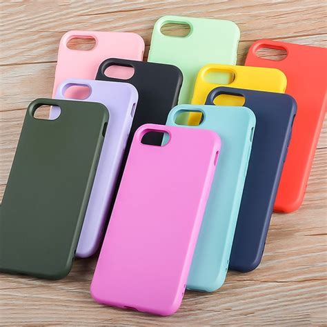 silicone case  iphone     soft tpu material bright candy colorful design shock