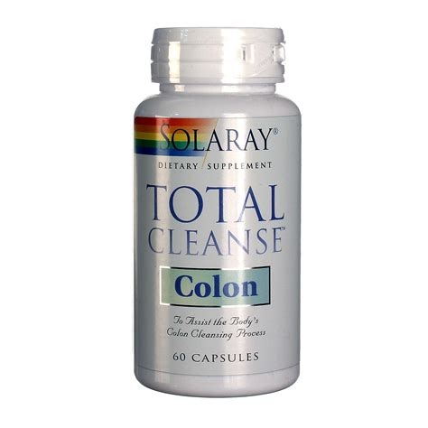 Total Colon Detox by Solaray Total Cleanse Colon 60 Capsules Evitamins