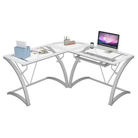 Frosted Glass Corner Desk Z Line Designs Kora L Shaped Corner Desk White With Frosted Glass Zl6020 01ldu