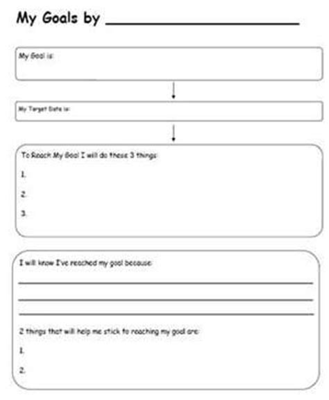goal sheet template for students 17 best images about psychotherapy on anxiety
