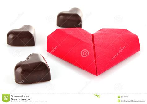 Chocolate Origami - of chocolate and origami stock photo image 22972740