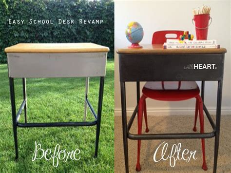 Refinishing School Desk by Such A Neat And Simple Technique For Refinishing Metal
