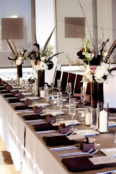 Wedding Favor Idea Black And White Formal Affair Favor Boxes by 25 Best Ideas About Feather Centerpieces On