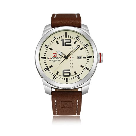 Watches Shower by Naviforce Fashion Casual Pu Leather Waterproof