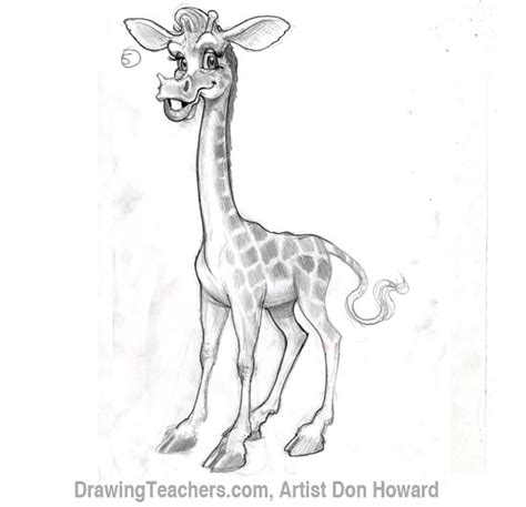 pattern giraffe drawing cartoon giraffe