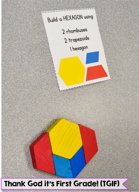 pattern block center activities susan jones teaching composing 2d shapes free center cards