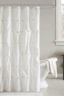 Best Way To Clean Shower Curtain by How To Clean A Cloth Shower Curtain Overstock