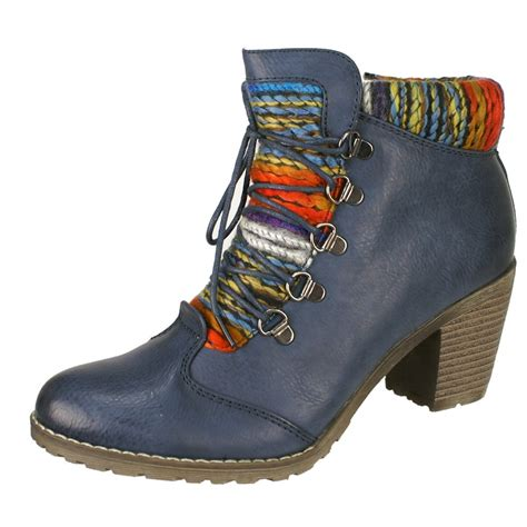 rieker 95323 14 s blue boots free delivery at