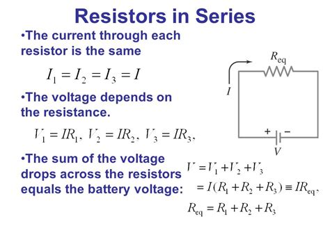 voltage of resistors in series electric currents and resistance ppt