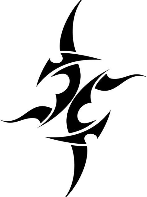 abstract tribal star star tattoos free tattoo designs