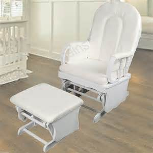 Rocking Chair Ottoman Nursery Wooden White Rocking Chair Ottoman Sliding Glider Baby Breast Feeding Nursery