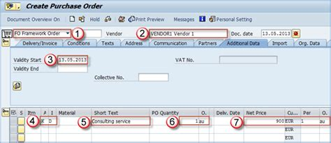 best free po service purchase order in sap me23n