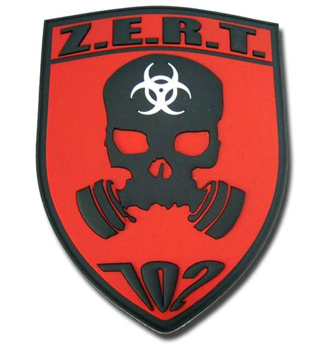 design a logo patch custom military unit pvc patches z e r t zombie