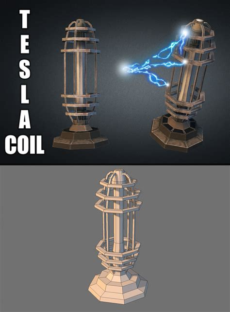 Tesla Coil Tower Top View Turret Sprites 187 Dondrup