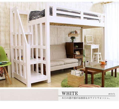 Diy Loft Bed With Stairs 楽天市場 木製 ロフトベッド 宮付き 階段付き ベッドランキング1位獲得 木製 北欧産パイン材使用の頑丈 ロフト