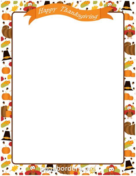 printable november stationery printable happy thanksgiving border use the border in