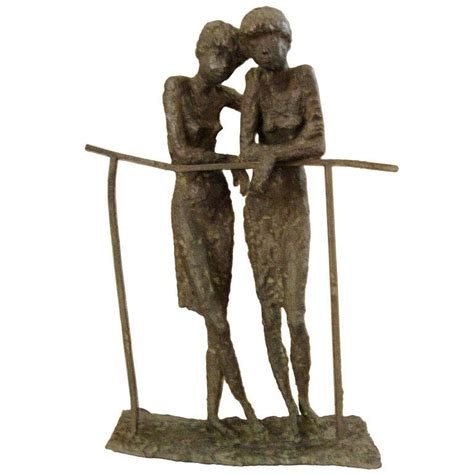How To Make Home Decorative Items by Bronze Sculpture Of Two Ladies In The Manner Of Alberto
