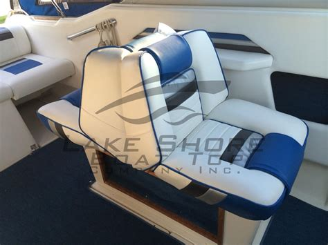 Boat Upholstery Replacement by Seats Upholstery Lake Shore Boat Top Company Inc