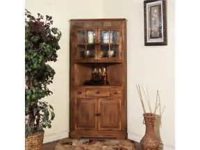 Corner Dining Room Furniture Designs Dining Room Sedona Corner China Cabinet 2451ro High Country Furniture Design