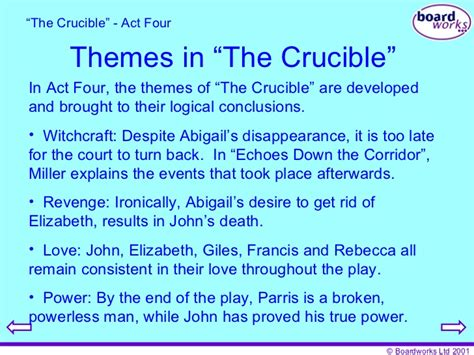 themes in the crucible revenge the crucible