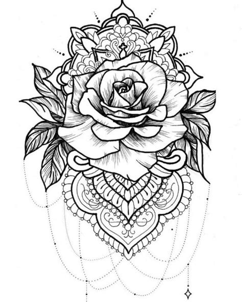 mandala rose coloring pages coloring pages