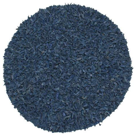 leather shag rug blue pelle leather shag rug contemporary area rugs by st croix