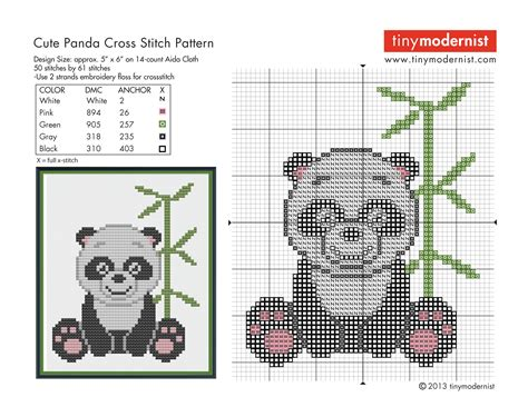 free counted cross stitch patterns and graphs movie free cross stitch pattern cute panda tiny modernist