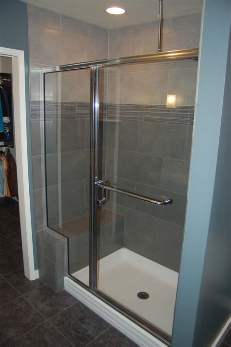Showers With Seats And Glass Doors Wonderful Shower Tile And Beautiful Lavs Notes From The