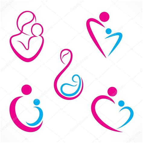 creative mother baby icon stock vector 169 vectotaart