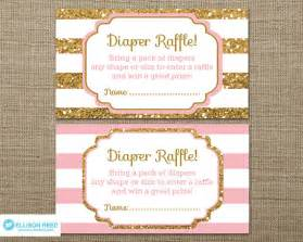 gold baby shower diaper raffle ticket gold glitter baby